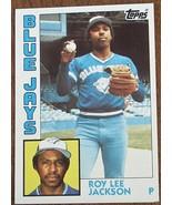 Roy Lee Jackson, Blue Jays,  1984 #339 Topps  Baseball Card GDC - GREAT ... - $2.96