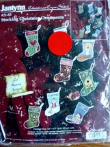 JANLYNN Stocking Christmas Ornaments Cross Stitch  #21-83 NEW 1997 - $15.63