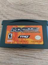 Nintendo Game Boy Advance GBA MX 2002 with Ricky Carmichael image 2