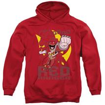 Power Rangers - Go Red Adult Pull Over Hoodie Officially Licensed Apparel - $34.99+
