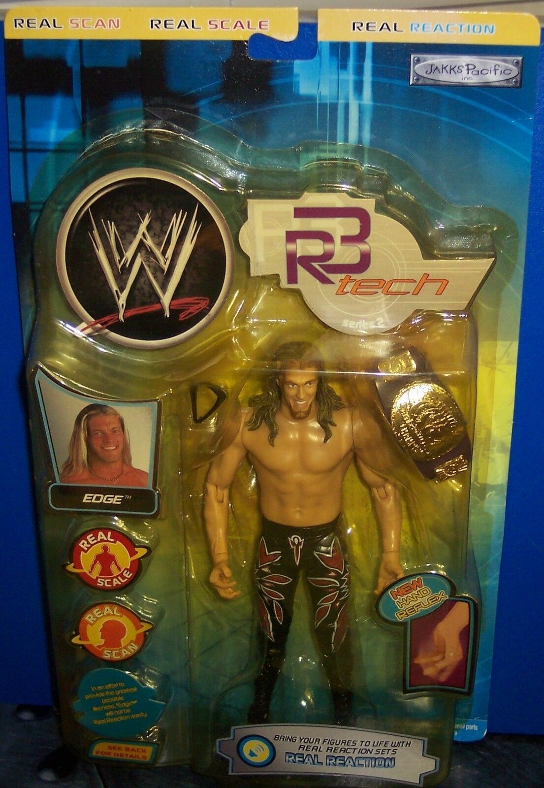"NEW! 2002 Jakk's Pacific R3 Tech Series #2 ""Edge"" Action Figure WWE WWF [1075]"