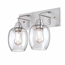 Westinghouse Lighting 6574100 Eldon Two-Light Indoor Wall Fixture, Aluminum Fini - $103.49