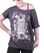 Bench UK Damen Marineblau Queeny Klee Spielkarte Rundhals T-Shirt BLGA2363 Nwt