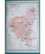 TUNISIA Kairouan City Town Plan - 1911 BAEDEKER MAP - $12.60