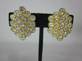 Nolan Miller Glamour Collection Cluster of Grandeur Earrings Gold Tone - $29.69