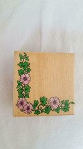 Hero Arts Ivy Corner Mounted Rubber Embossing Stamp #F038,FLORAL,MORNING Glory, - $4.94
