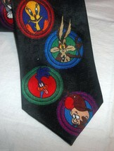 Looney Tunes Logo Tie Elmer Fudd Tweety Marvin the Martian Taz Sylvester... - $17.99