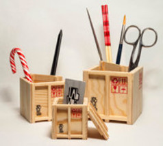InBox Shipping Box Desk Tidies & Kitchen utensiles organizer: Set of 3 D... - $19.95