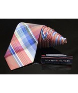 TOMMY HILFIGER Cross Over Striped Candy Cane Holiday Tie - $28.22