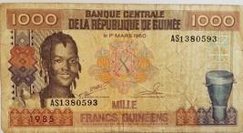 Banque Centrale De  la Republique de Guinee Mille Francs Guineens 1985 B... - $3.95