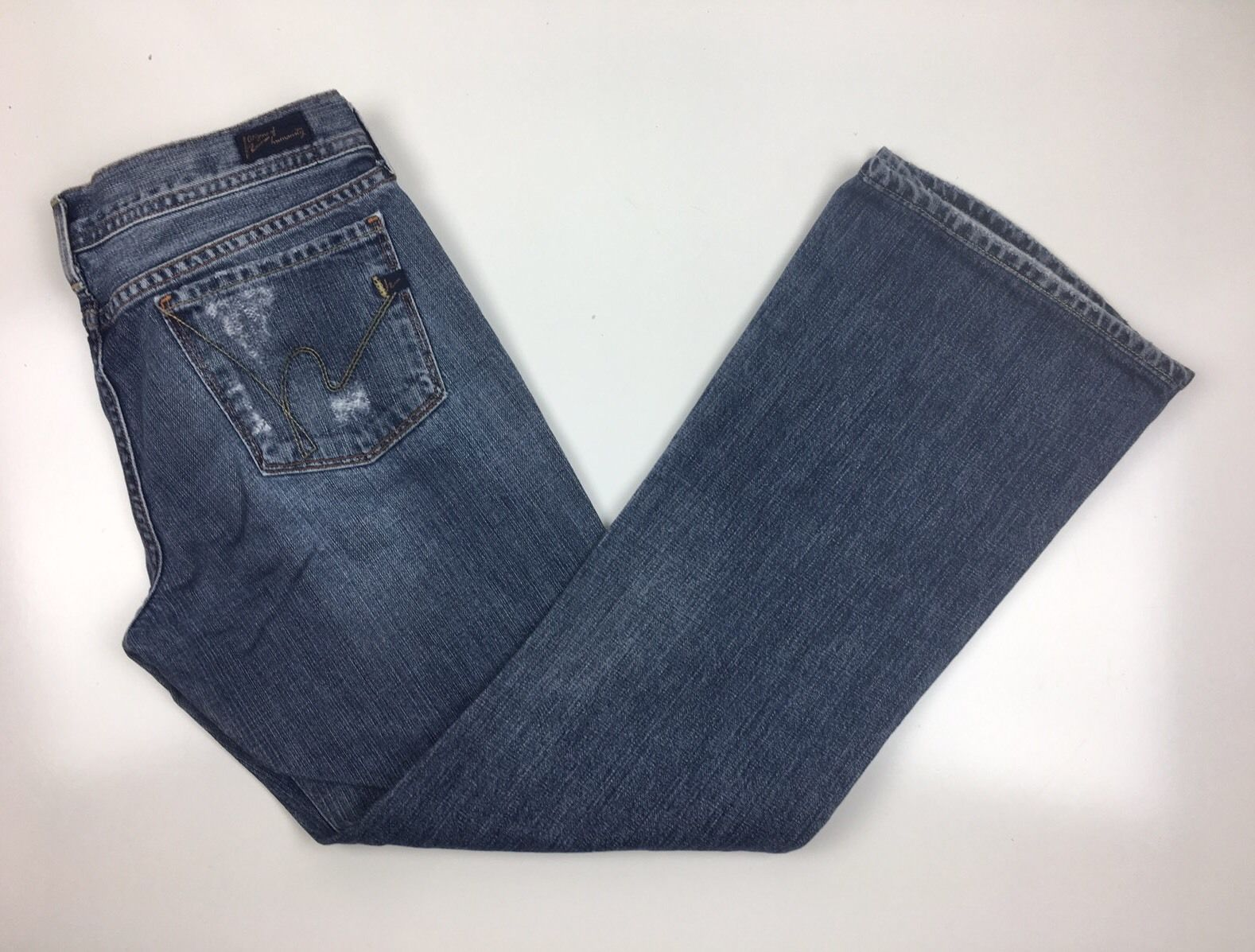 Citizens Of Humanity Women Ingrid 002 Low Waist Flair Stretch Destroyed  Sz  30 - $39.94