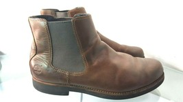 Timberland Earth Keepers  Chelsea Brown Leather Boots Men's 12 M  - $89.08