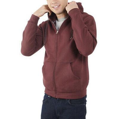 Men's Fruit of the Loom Eversoft Fleece Full Zip Hoodie Sweater Jacket 4XL