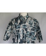 Columbia Men's Short Sleeve Cotton Button Front Shirt size XL - $19.79