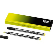 Montblanc Document Marker Highlighter Refill Yellow 2 Pack 105168 - $18.99