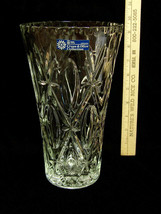 Anchor Hocking Pressed Glass Tall Large Vase Cross & Olive Collection US... - €21,60 EUR
