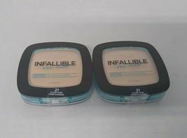 Set of 2: L'oreal Paris Infallible Pro-Glow Powder 0.31 oz, 21 Classic Ivory - $9.86