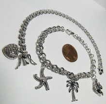 2 PC Lot HSN Technibond White Gold on Sterling Silver Diamond Starfish B... - $44.53