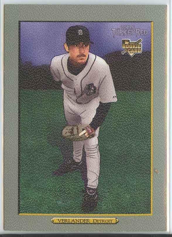 JUSTIN VERLANDER RC 2006 Topps Turkey Red #630 Tigers Baseball Trading Cards MLB