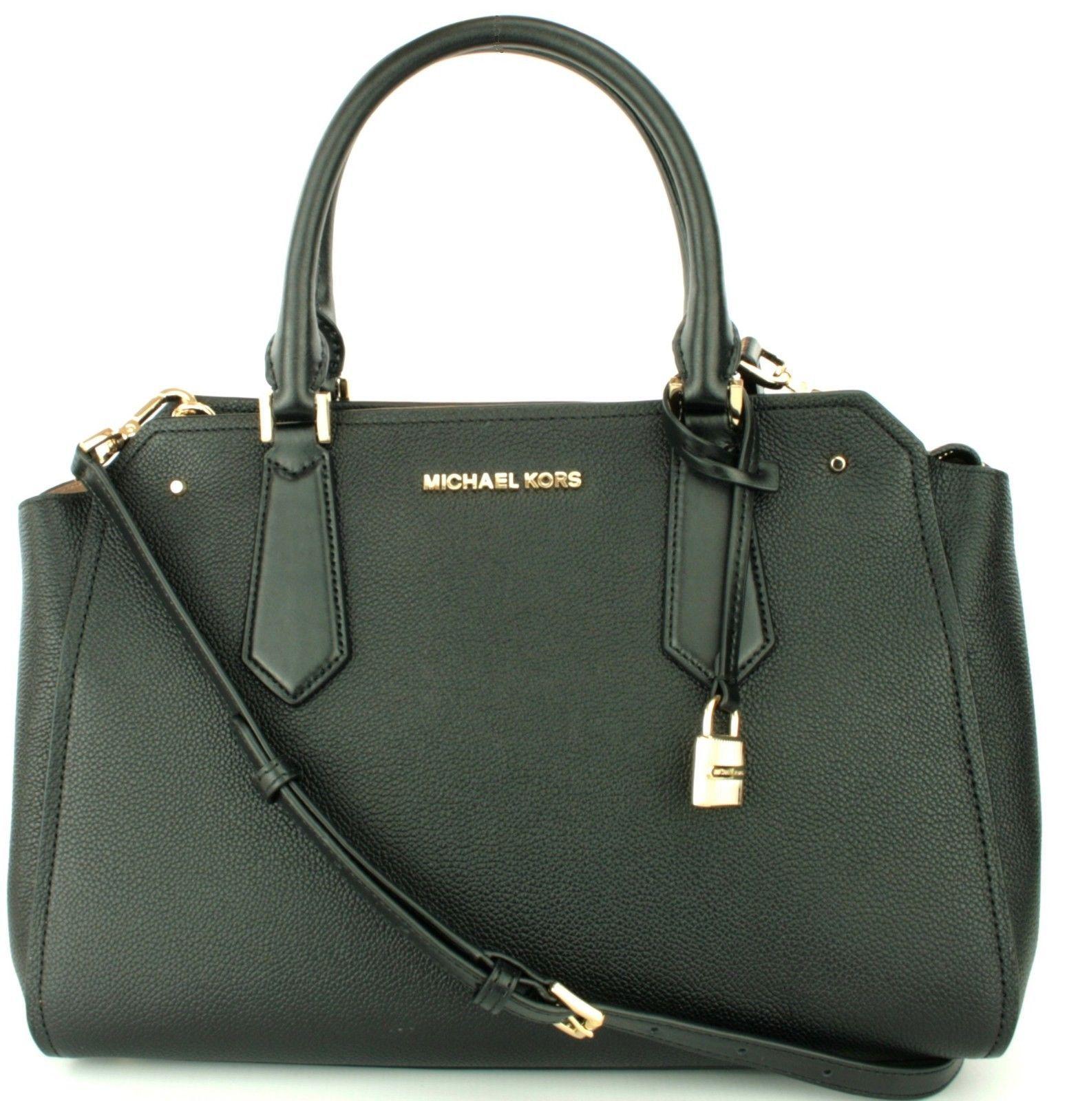 e78e92e5a Michael Kors Hayes Black Leather Shoulder and similar items. 57