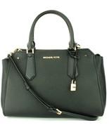 Michael Kors Hayes Black Leather Shoulder Messenger Bag large Handbag - $330.50