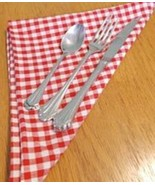 Design Imports DII Tango Red Gingham Check Napkin (Set of 2) 100% cotton... - $10.00