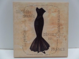 "Black Robe-De-Soriee France Tan Canvas Print Wall Art Home Decor 16""sqx1... - $29.99"