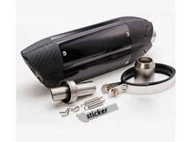 Universal Motorcycle Exhaust Modified Muffler Pipe Scooter Pit Motocross... - $82.53