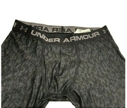 Under Armour Men's UA Heatgear Boxerjock Printed Black Boxer Brief Size ... - $19.79