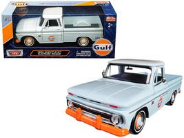 "1966 Chevrolet C-10 Fleetside Pickup Truck \""Gulf\"" Light Blue with White Top 1/ - $36.03"