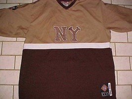 New York Black Yankees 13 Headgear NLBM 1932-1948 Brown Pullover Jersey 2XL - $59.39