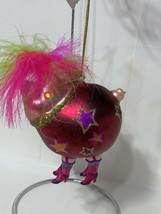 """Katherine's Collection glass pig showgirl ornament 4"""" x 3"""" red 22-24025 - $34.99"""