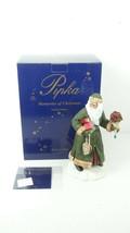 Pipka Memories of Christmas 13935 Poinsettia Santa w/COA - $71.99