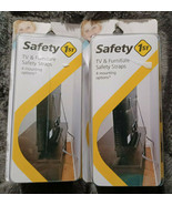 Lot of 2 Safety 1st First TV & Furniture Safety Straps w/ 4 Mounting Opt... - $18.76