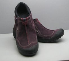 Clarks Privo Plum Leather SHOES Woman's 6.5 M Slip On  - $15.83