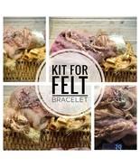 Bracelet Making Kit, Felting Supplies for Bracelet, DIY Kit, Merino Wool, - $24.75