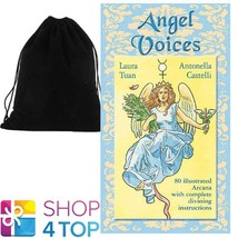 ANGEL VOICES ORACLE CARDS DECK ESOTERIC LO SCARABEO WITH VELVET BAG NEW - $27.12