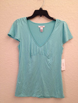 Alfani Women's Cap Sleeve Modal Pajama Sleep Top 220101 Aqua XS Small Me... - $7.20