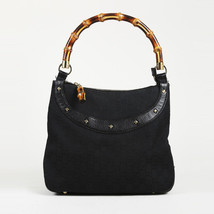 "Gucci Original GG Canvas Bamboo ""Anita"" Shoulder Bag - $385.00"