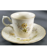 Mikasa Fine Ivory Spring Meadow Tea Cup and Saucer Set  D1007 Yellow Flo... - $9.90