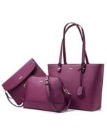 Lovevook Women Shoulder Bags Tote Satchel Hobo 3pcs Purse Set - $189.99