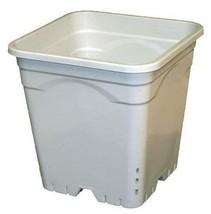 """12""""x12"""" Square White Pot, 12"""" Tall, 24 per case - $121.54"""