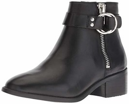 Steve Madden Women's Deja Ankle Boot, Black Leather, 8.5 M US - $69.36