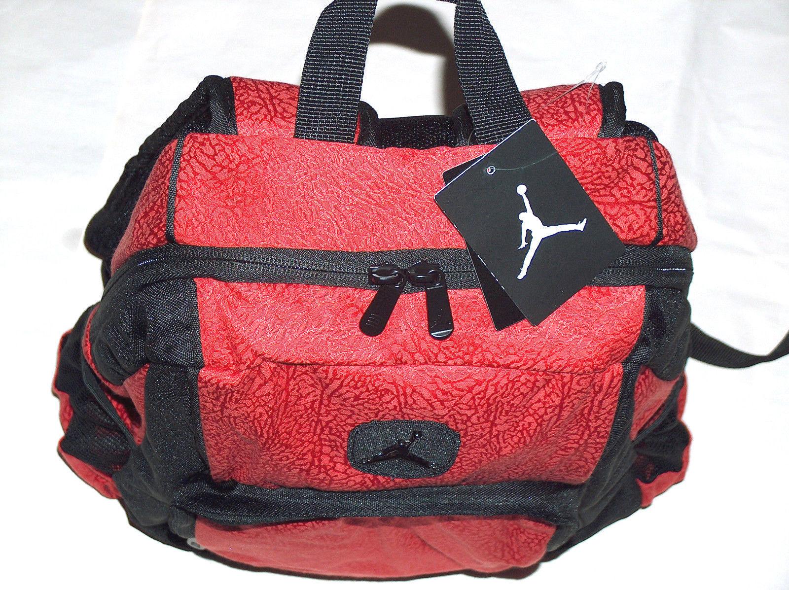 Nike Air Jordan Jumpman Flight Laptop Bottle Red Leopard School Backpack Bag b70df4c621954