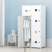 Wardrobe Closets For Kids Bedroom Portable 8 Cube Organizer Clothes Garment - $53.33