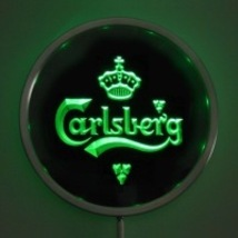 Neon  Round Sign LED Carlsberg Red,Green, Blue   - $59.99