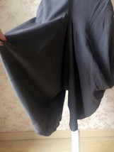 Women Gray LINEN PANTS Wide leg Linen Cotton pants Casual Cozy Pants Harem Pants image 2