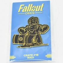 Fallout Crate #18 LootCrate Black & Gold Rad Perk Pin