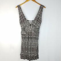 Romeo & Juliet Couture Dress Women Size M Medium Geometric Short V-Neck ... - $18.88