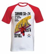 SUKHOI SU 24 - NEW COTTON BASEBALL TSHIRT ALL SIZES - $26.49